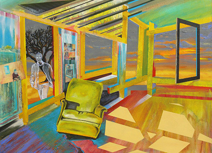Yellow Chair 40X30