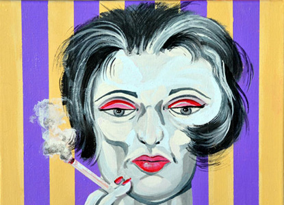 Dame #2: The Woman Still Smoking Nasty Cigarettes  11X14