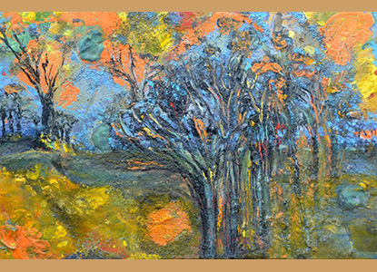 and then it rained on the charred trees 36X24